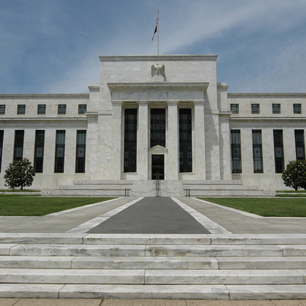 the front of the Federal Reserve building