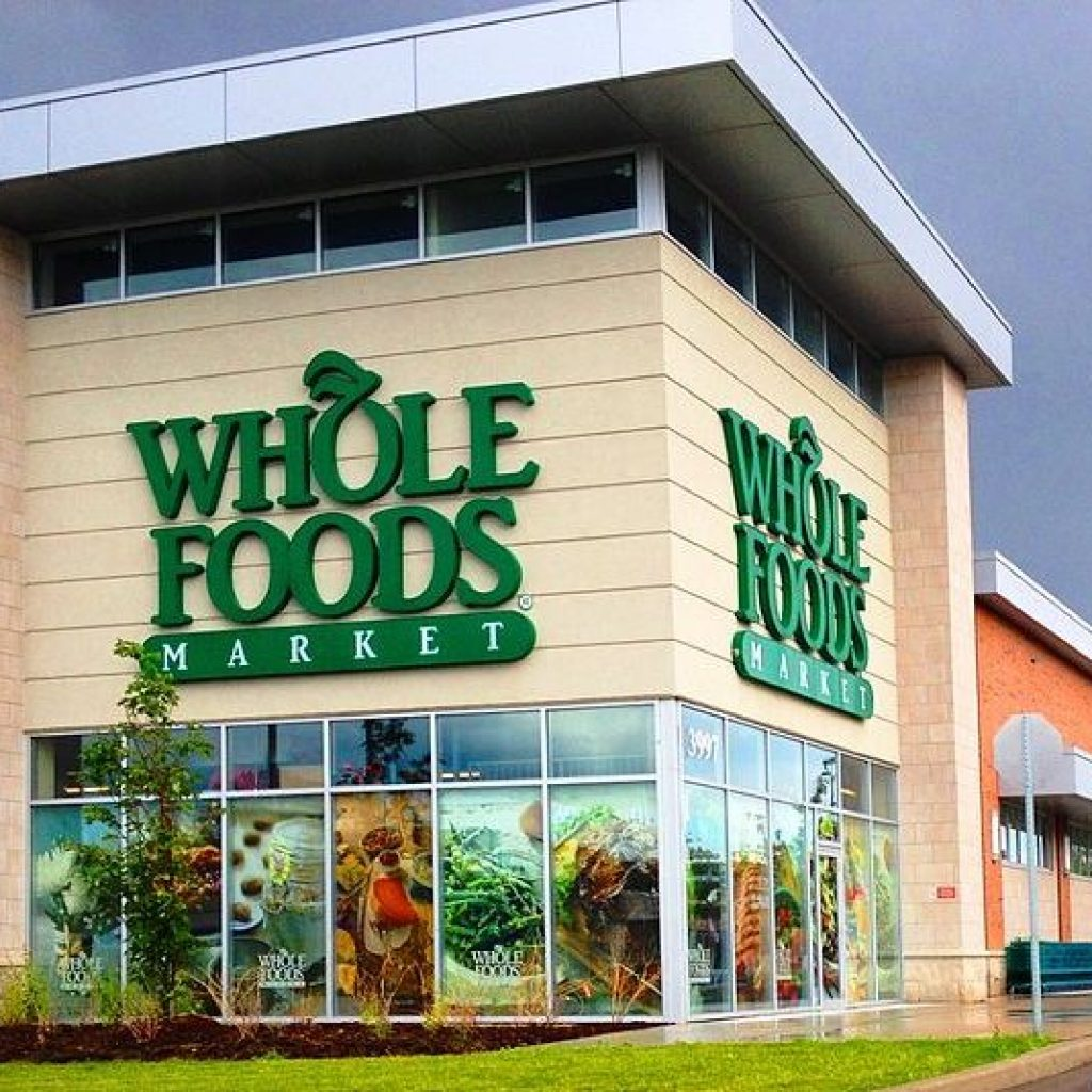 The outside of a Whole Foods store in Markham, Canada